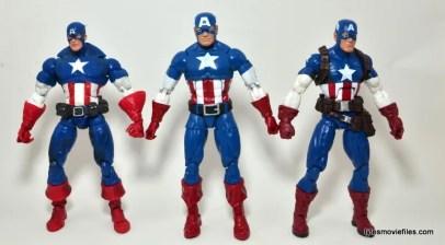 Marvel Legends Captain America review -boxset, Face Off Cap comparison