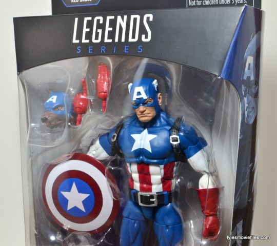 Marvel Legends Captain America review -package close up