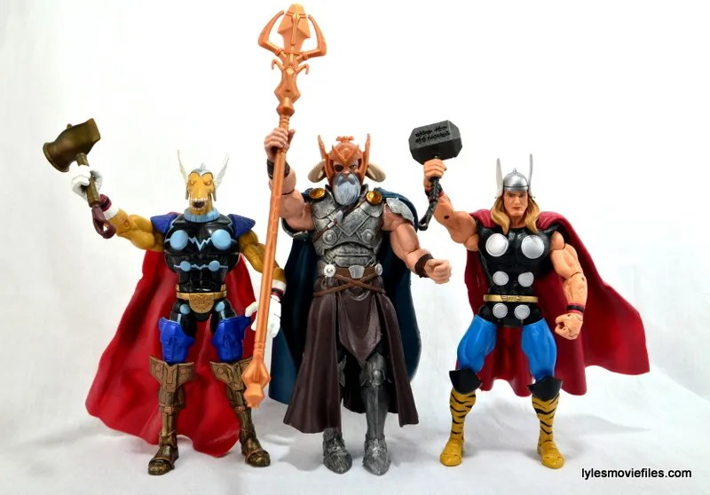 Marvel Legends Odin and King Thor review - Thor, Odin and Beta Ray Bill