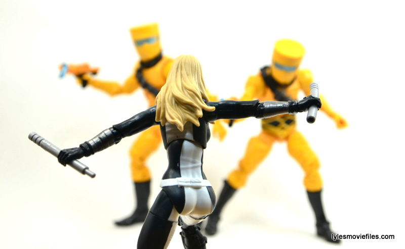Marvel Legends Mockingbird figure review - ready to fight AIM
