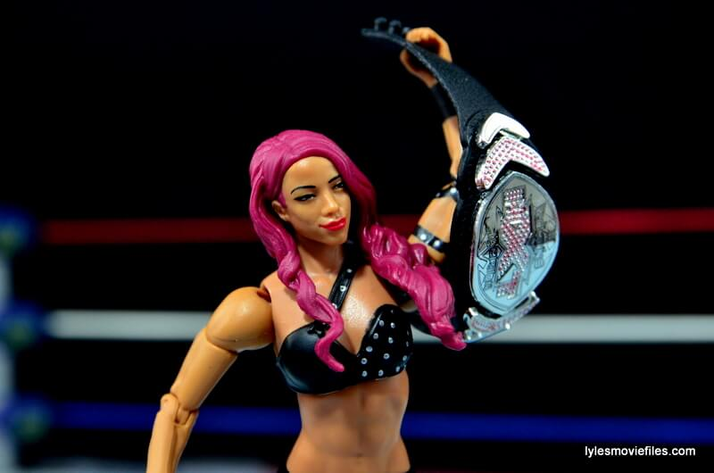 WWE Sasha Banks figure review - holding NXT Women's Title
