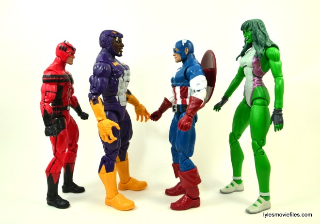 Marvel Legends Cottonmouth figure - scale Giant Man, Captain America and She-Hulk