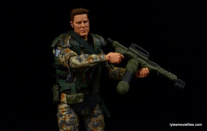 NECA Aliens Sgt Craig Windrix figure -holding flamethrower