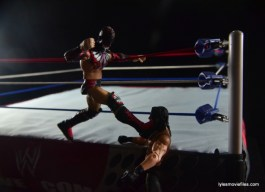 WWE Elite 41 Finn Balor -apron kick to Seth Rollins