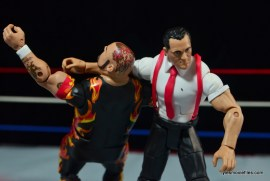 WWE IRS Mattel Elite figure review -clothesline to Bam Bam Bigelow