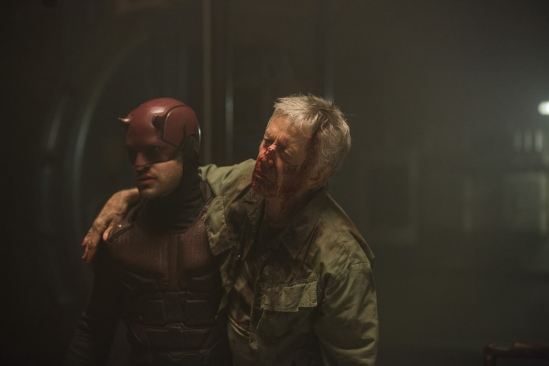 daredevil - the dark at the end of the tunnel review - daredevil and stick-min