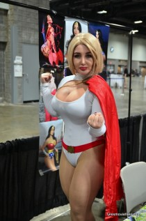 Awesome Con 2016 -Sofia Sivan as Power Girl fist up