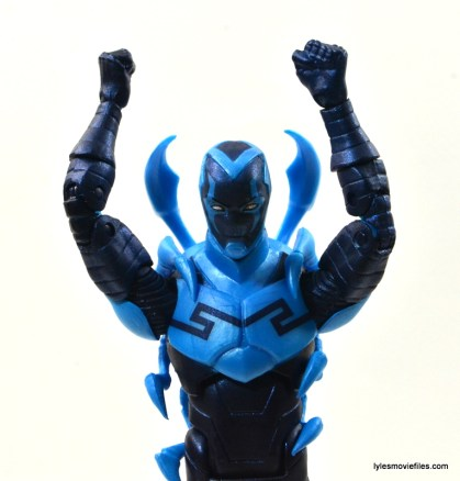 DC Icons Blue Beetle figure review -arms up