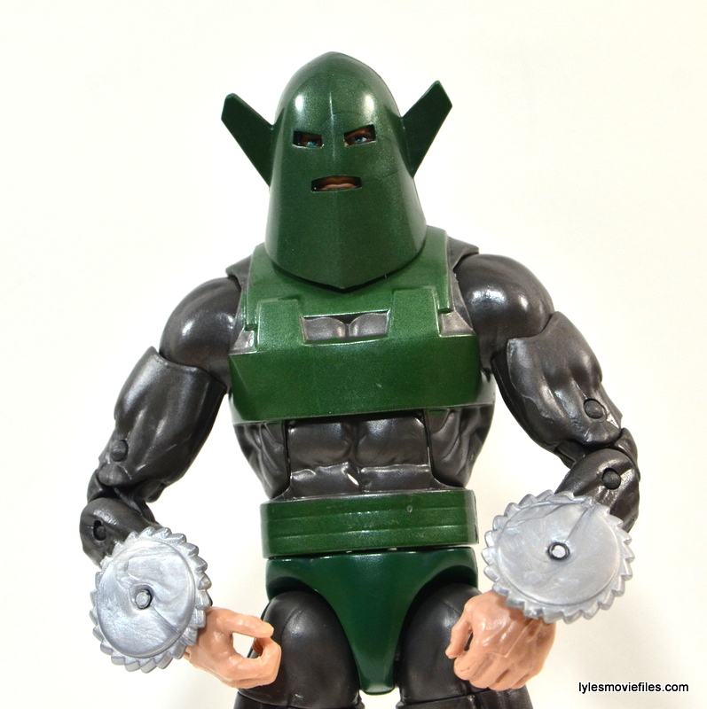 Marvel Legends Whirlwind figure review -arms in close