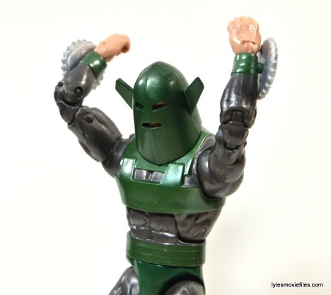 Marvel Legends Whirlwind figure review -arms up