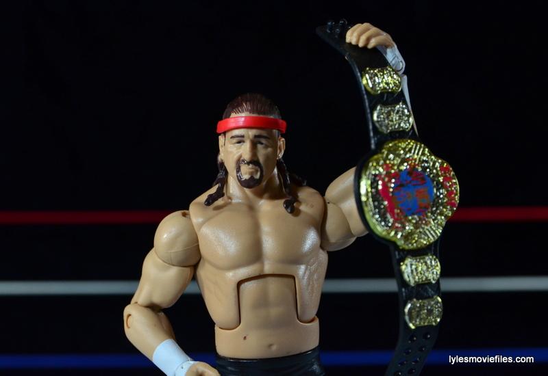 WWE Elite 41 Terry Funk figure review -raising ECW title