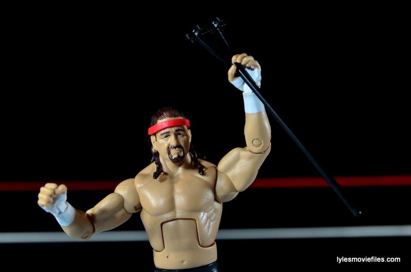 WWE Elite 41 Terry Funk figure review -raising the branding iron