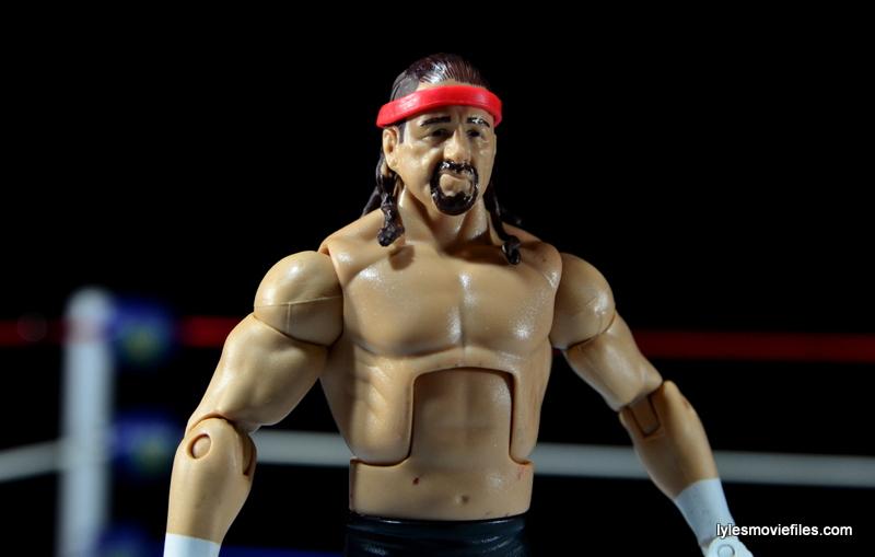 WWE Elite 41 Terry Funk figure review -side shot