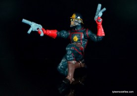Guardians of the Galaxy Marvel Legends exclusive -Star-Lord kneeling close up