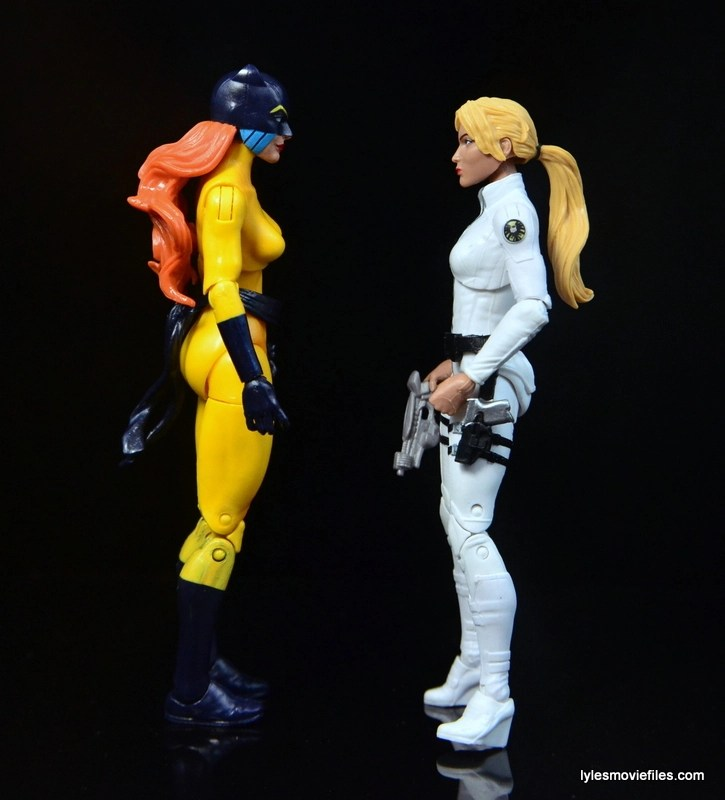 Marvel Legends Hellcat figure review - scale with Sharon Carter