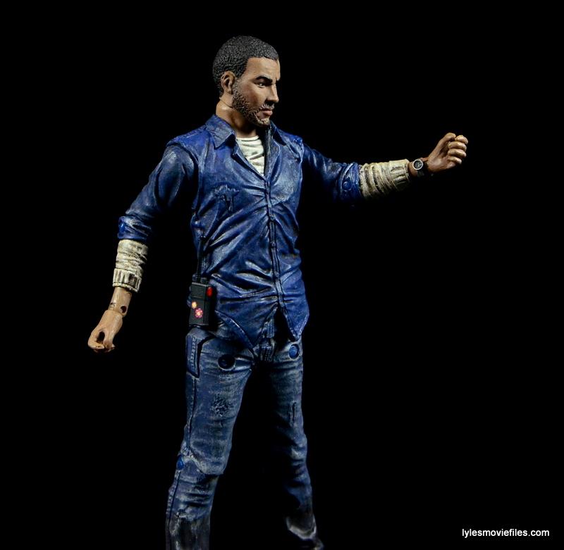 The Walking Dead Lee Everett McFarlane Toys figure - watch sculpt detail