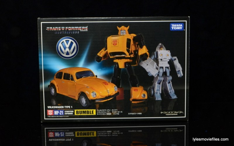 Transformers Masterpiece Bumblebee review - front package