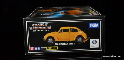 Transformers Masterpiece Bumblebee review -package left side