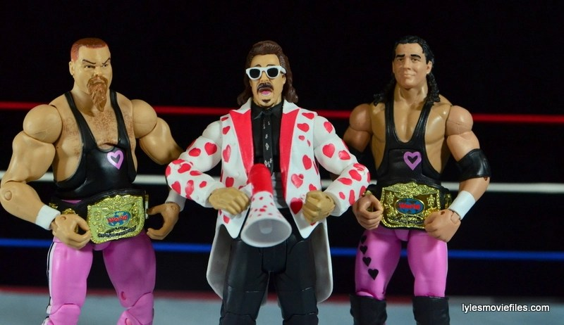 WWE Elite 43 Hart Foundation figures -with Jimmy Hart