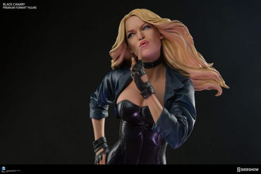 dc-comics-black-canary-premium-format-figure-left side closeup