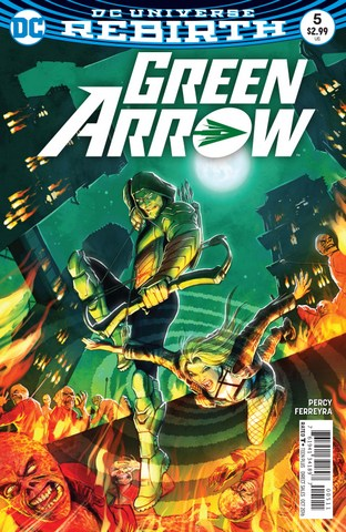 Green Arrow #5 review Inferno - cover