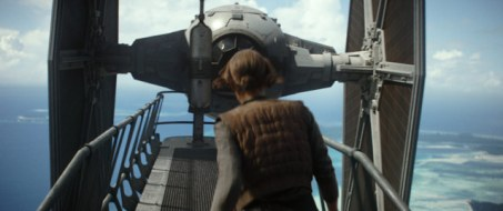 Rogue One - Jyn Erso and Tie Fighter