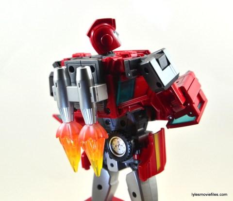 Transformers Masterpiece Ironhide figure review - jetpack