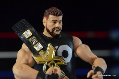 WWE Elite 43 Kevin Owens figure review - holding NXT title