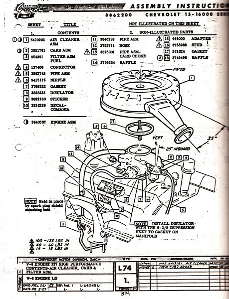 detail pics of an original 327/300 engine? - Chevy Message Forum