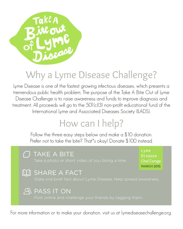 New Lyme Disease Challenge Flyers! - how to make flier