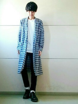 ガウンコートのメンズの着こなし方①:裾丈を意識する