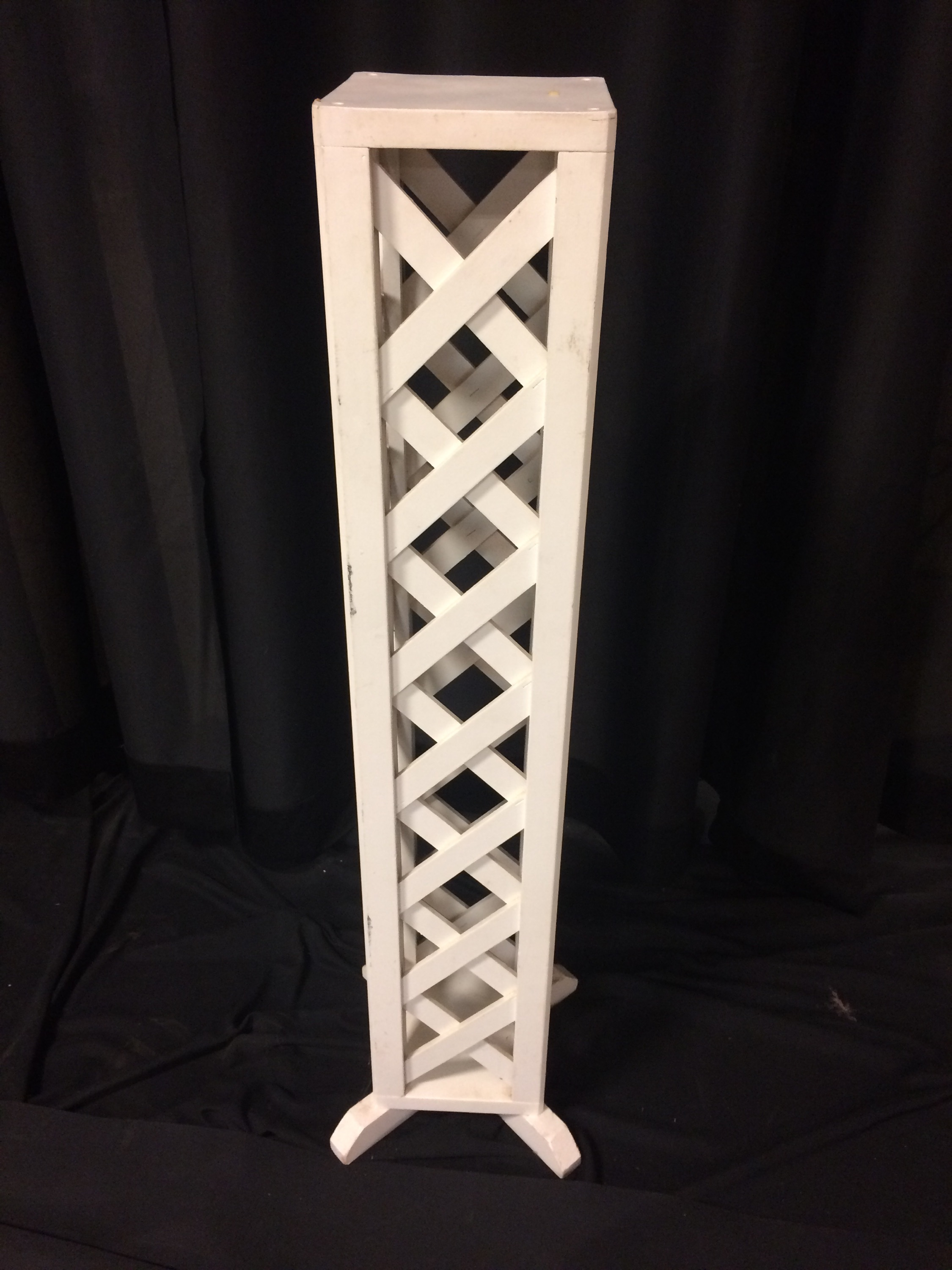 White Pedestal Plant Stands Plant Stand White Lattice Lynchburg True Value