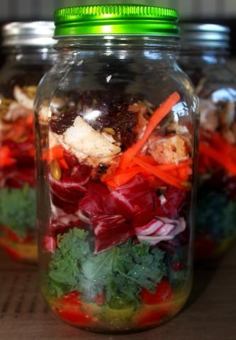 Kale-Slaw Salad Jars