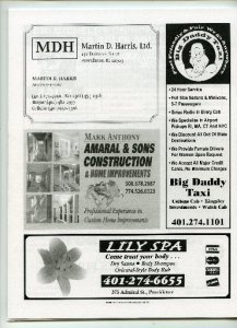An ad for Lily Spa appeared in the 2008 issue of Cranston Police Union's Public Safety Guide, a booklet of safety tips.