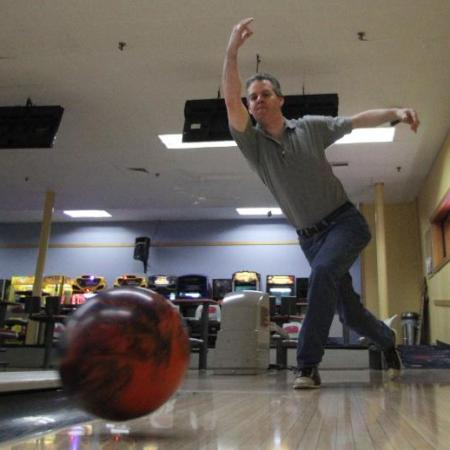 Jimmy Williams at the Old Mountain Lanes bowling alley in Wakefield, R.I., where he bowled three perfect games in a row in April for a 900.