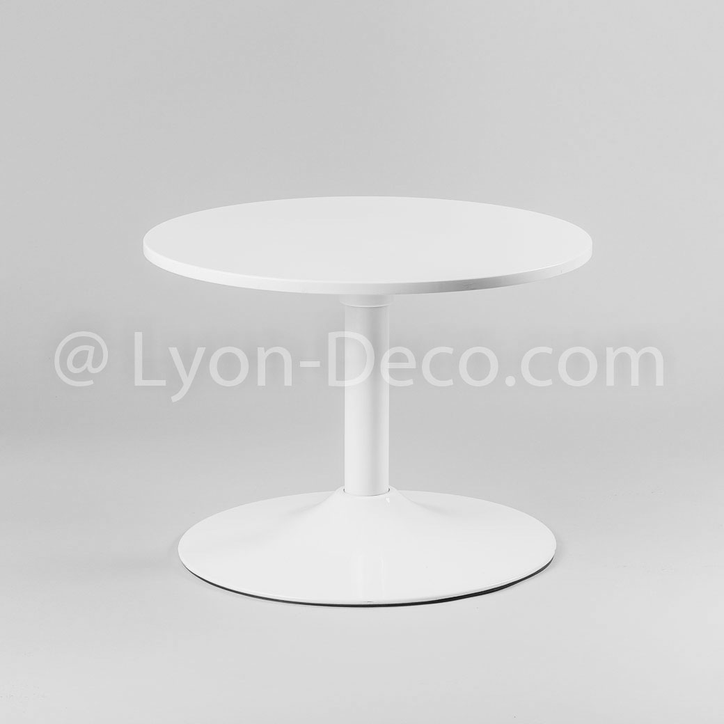 Table De Salon Ronde Blanche Location Table Basse Ronde Blanche Type Guéridon