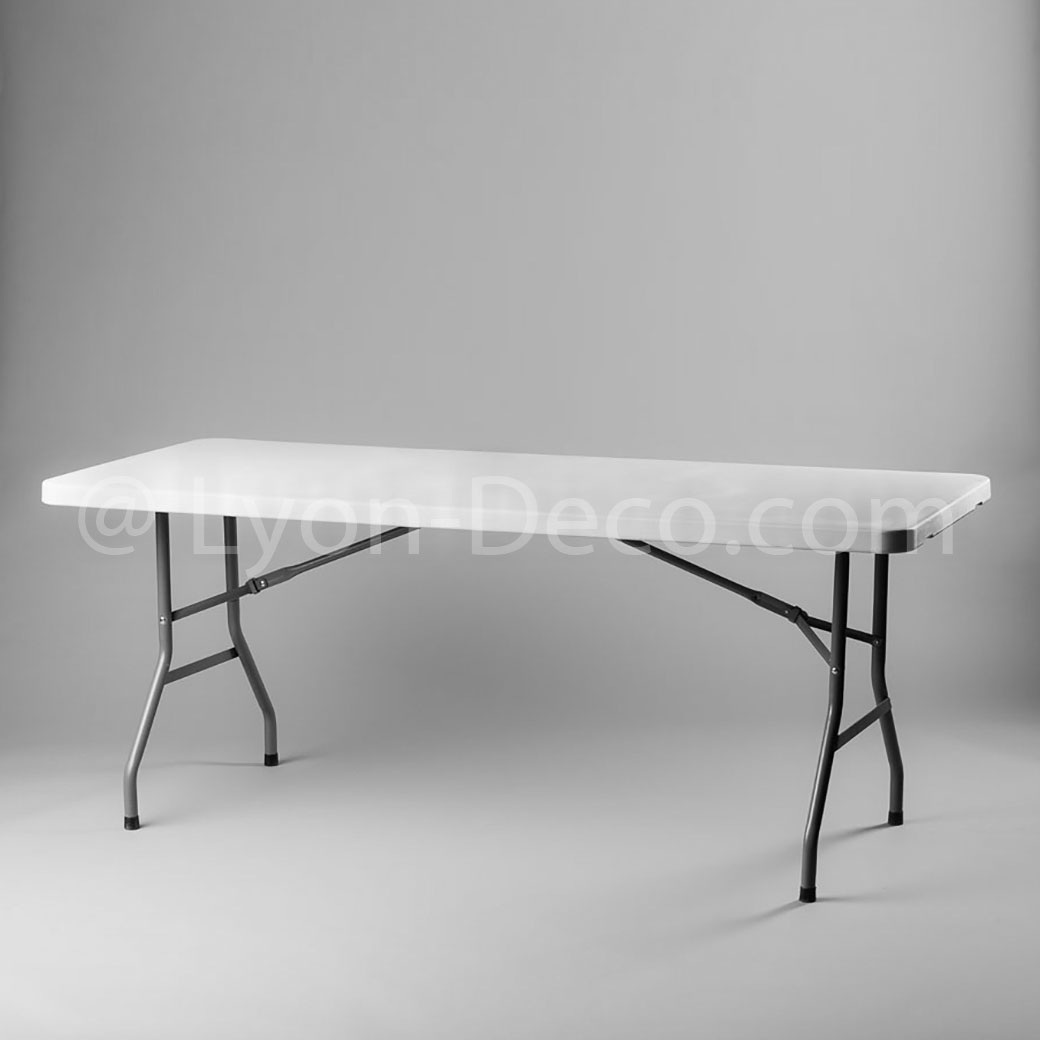 Table Rectangulaire 8 Personnes Location De Table Rectangulaire 220 X 76cm Blanche 8 Personnes