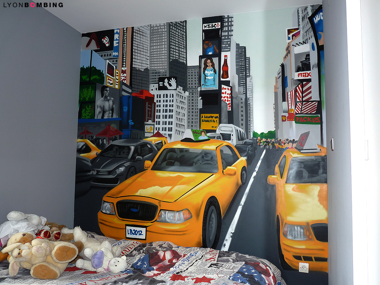 Deco New York But Chambre Times Square Chambre Lyonbombing