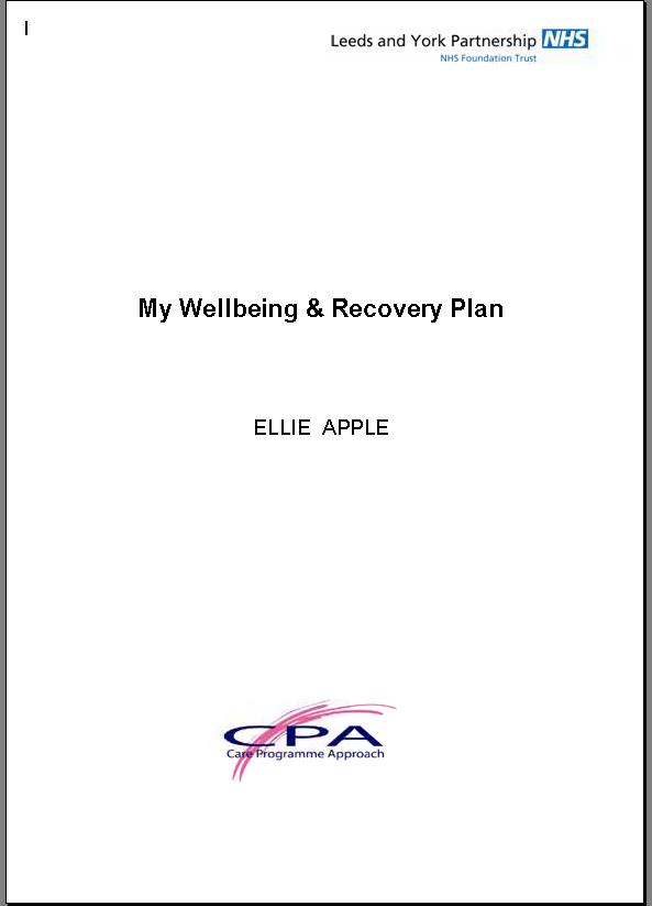 recovery plan LYPFT Planning Care Network