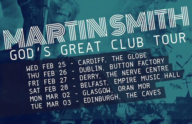 Martin Smith Embarks On 2nd Leg Of God's Great Club Tour