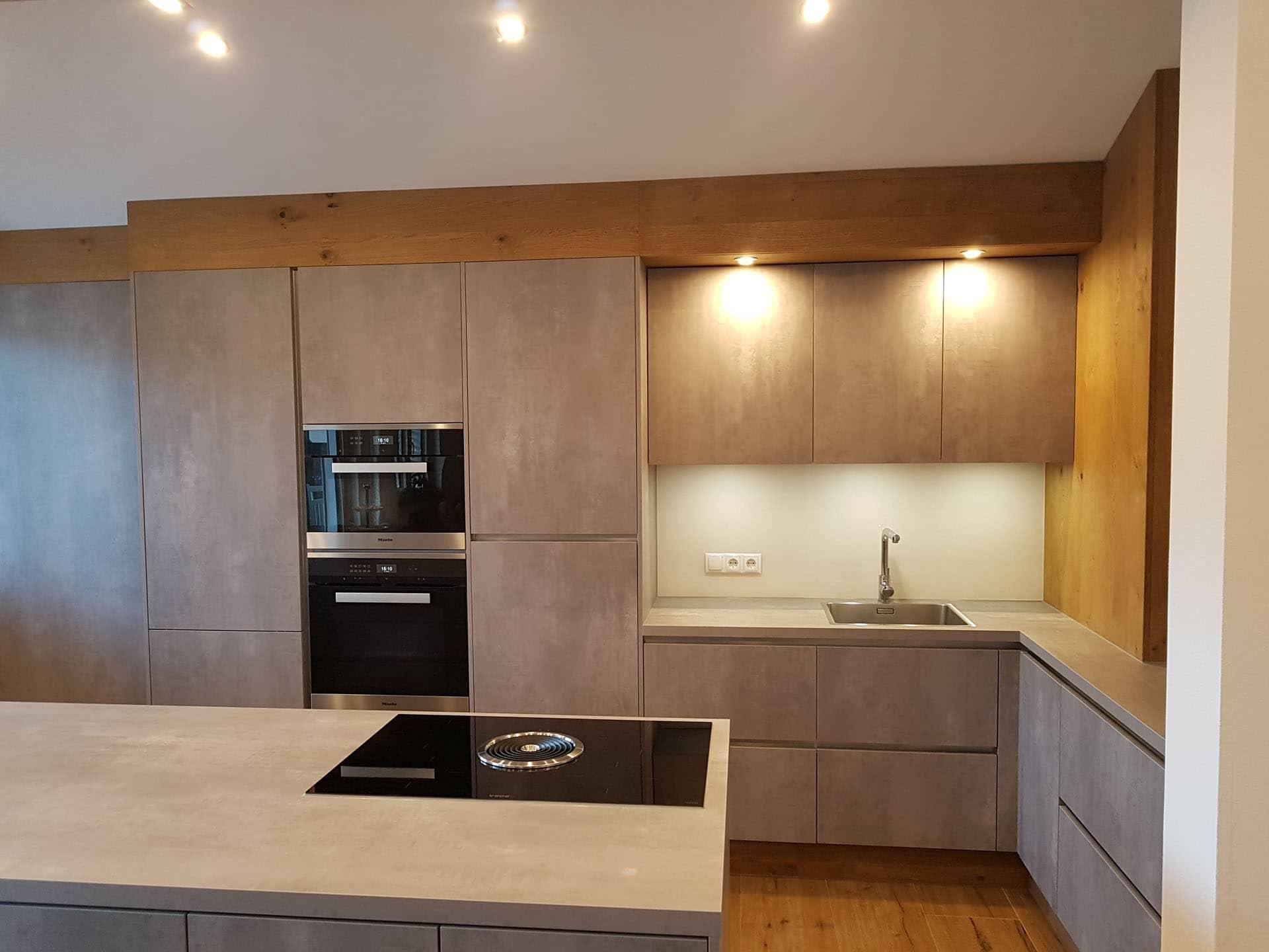 Küche Betonoptik Mit Holz
