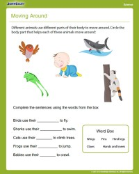 Moving Around View  Free First Grade Science Worksheet ...