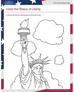 Color the Statue of Liberty  Coloring Pages for Fourth of