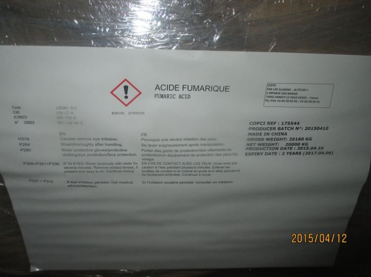 China Fumaric Acid CAS NO 110-17-8 Manufacturers  Suppliers