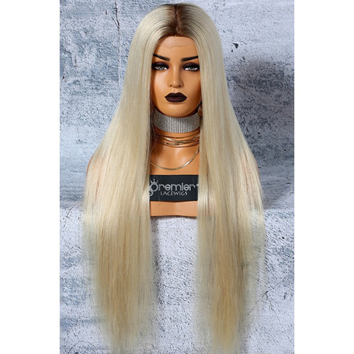 Platinum Blonde Hair Full Lace Wigs 6\