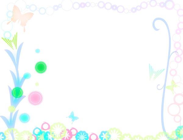 Cute Bordered Pastel Flower Wallpaper Stock De Fotos Gratis Primavera Frontera Xymonau