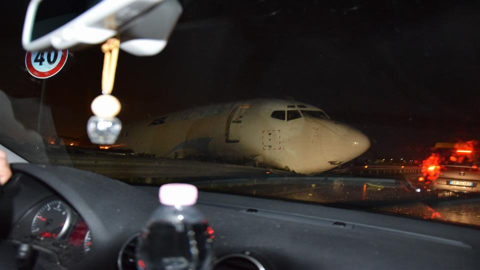 DHL Cargo Plane Lands on Road in Italy