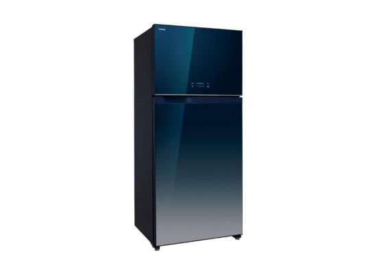 Toshiba 25 Cft Top Mount Refrigerator (GRWG77UDZK(GG))- Blue