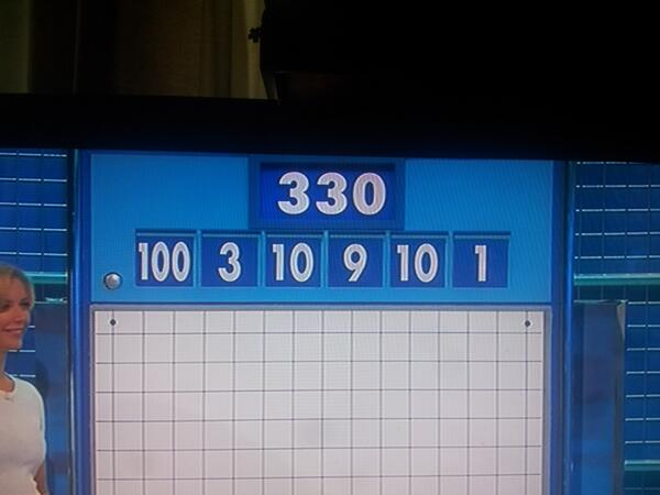 Pic The numbers game on Countdown today might just be the easiest
