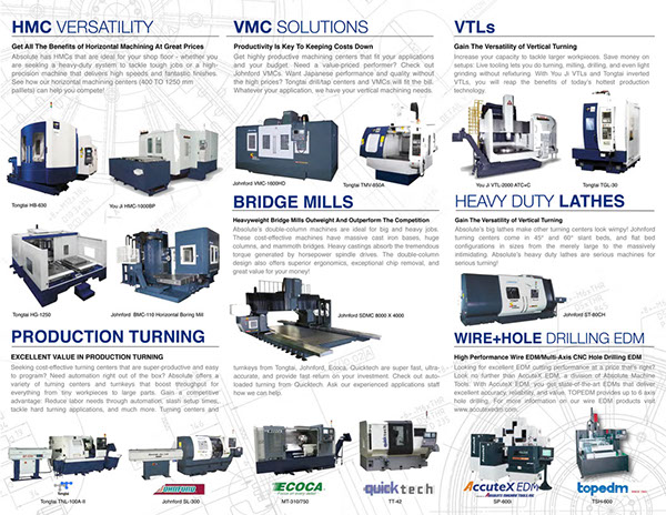 Absolute Machine Tools Product Line Card by Meng-chi Chou, via - funeral program background